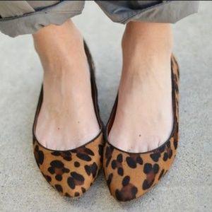 Madewell Leopard Print Fur Flats